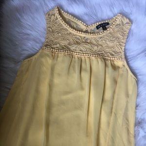 Dresses & Skirts - Yellow lace dress